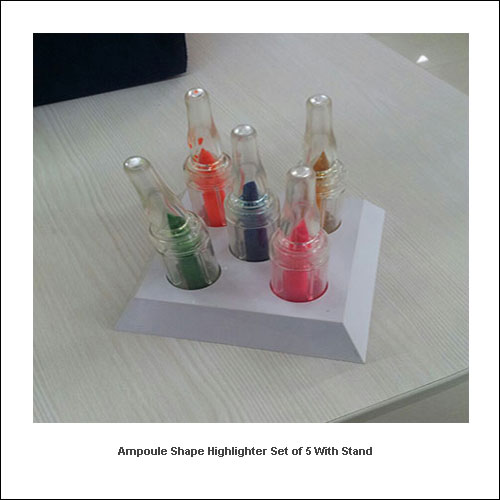 Ampoule-shape-Highlighter-Set-of-5-with-stand