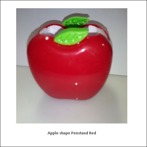Apple-shape-Penstand-Red