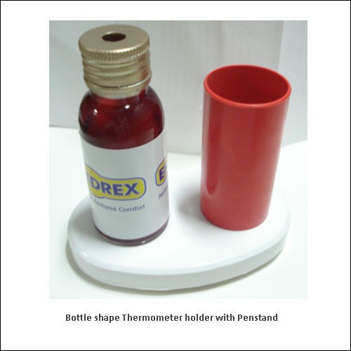 Bottle-shape-Thermometer-holder-with-Penstand