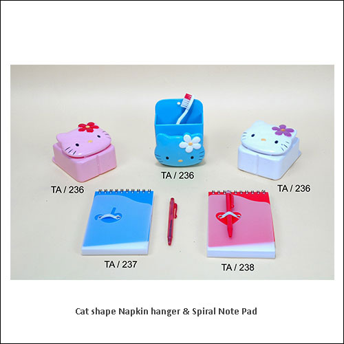 Cat-shape-Napkin-hanger-&-Spiral-Note-Pad