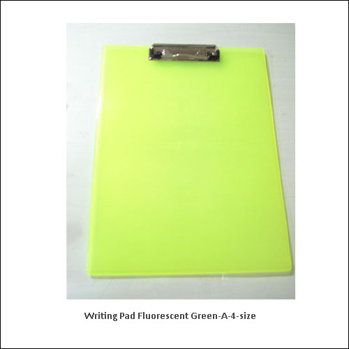 Writing-pad-fluorescent-green-A-4-size